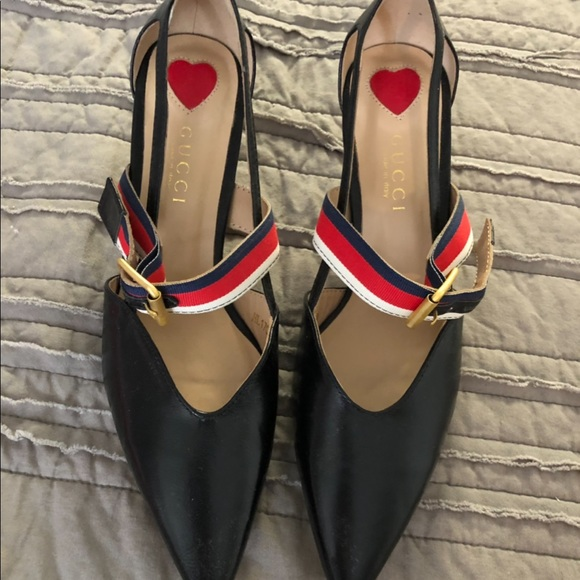 Gucci Shoes - Gucci Pump all leather/bamboo heels